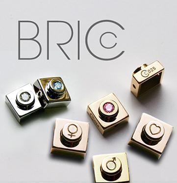 Petites Bricc en or 18 carats jaune, blanc ou rose ; ornées d'une gravure, d'un saphirs ou d'un diamant. Prix sur demande