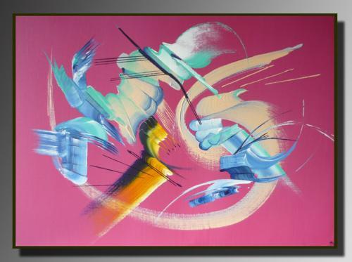 L'INTRUS Taille : 70X50 Peinture abstraite   Acrylique au couteau/pinceau Toile sur ch�ssis bois Cotation Drouot Site officiel : http://www.mapeinturesurtoile.com Prix : me contacter