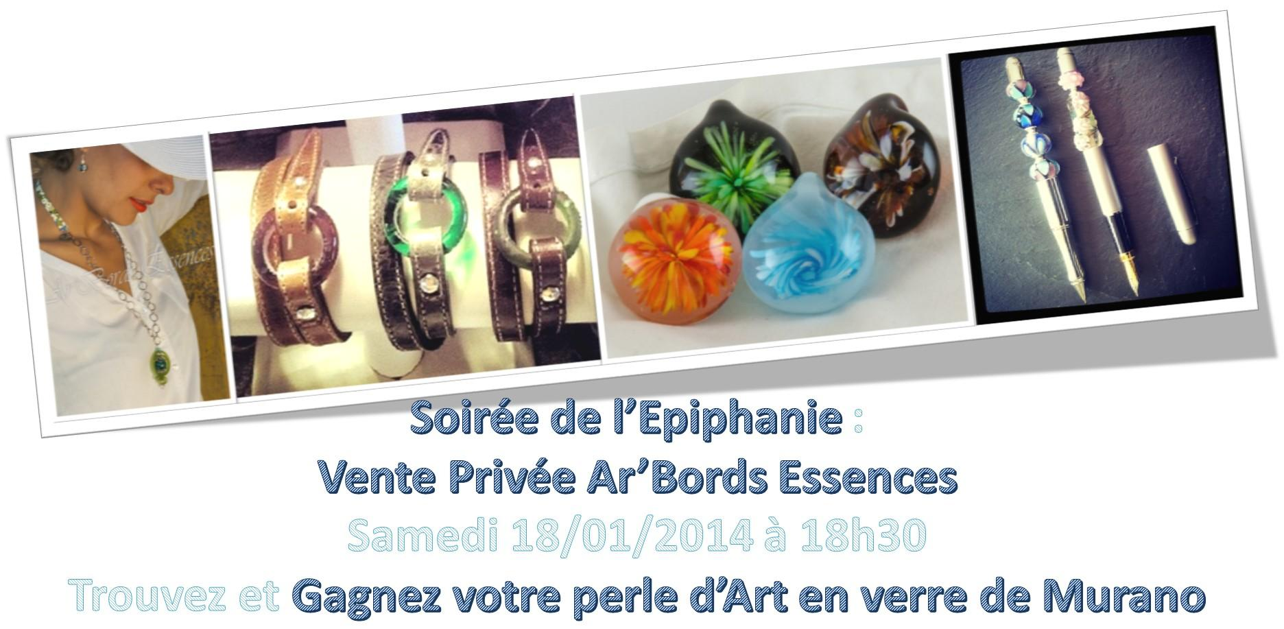 Actualité de ariane chaumeil Ar'Bords Essences - A la Guilde du Dragon de Verre 4e Vernissage : Soirée de l'Epiphanie, vente privée Ar'Bords Essences