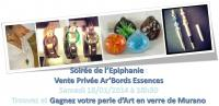 4e Vernissage : Soir�e de l'Epiphanie, vente priv�e Ar'Bords Essences , ariane chaumeil Ar'Bords Essences - A la Guilde du Dragon de Verre