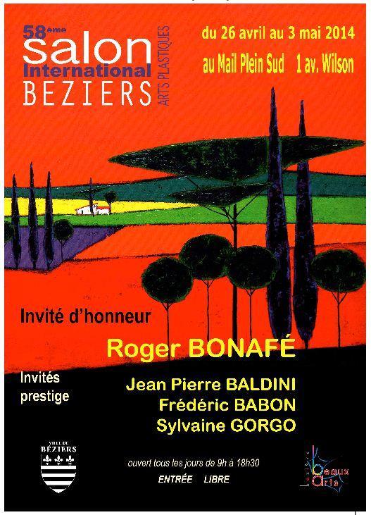 Actualité de   HEIM Marine et HIBON Monique 58e SALON INTERNATIONAL D'ARTS PLASTIQUES de BEZIERS
