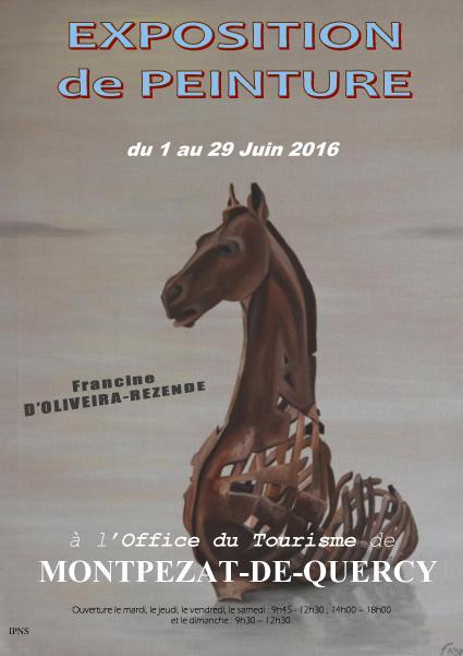 Actualité de francine D'oliveira Rezende artiste peintre Montpezat du Quercy