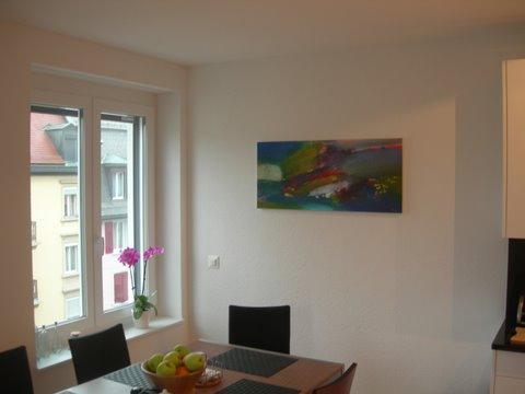 Abstrait horizontal sur toile format XL