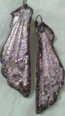 Boucles gris foncé & argentée& pierres incrustées Référence D6