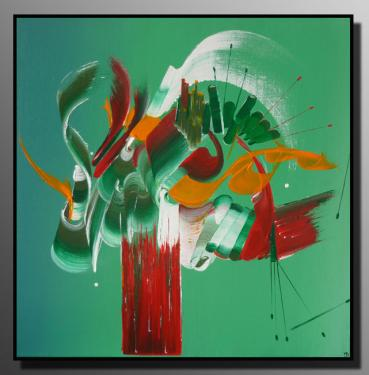 APRES LA PLUIE ... Taille : 50X50 Peinture abstraite   Acrylique au couteau/pinceau Toile sur ch�ssis bois Cotation Drouot Site officiel : http://www.mapeinturesurtoile.com Prix : me contacter