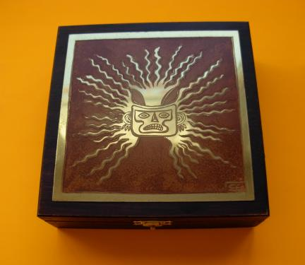 Boîte à bijoux Masque 14x14x4,5h