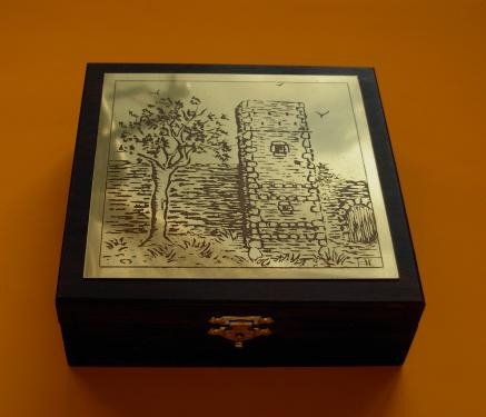 Boîte à bijoux Tour de Molhe 14x14x4,5h