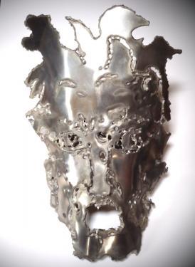 Masque,plaque d'aluminium