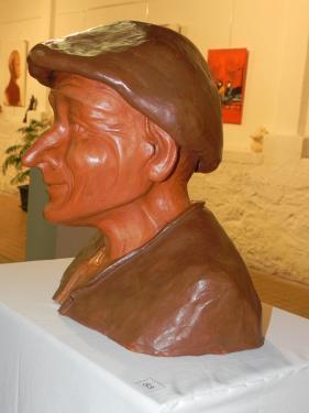 sculpture l'homme au béret