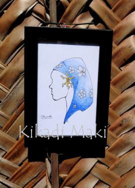 Bou�ni bleue  Dimensions : env. 13x18cm