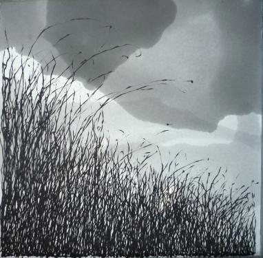 paysage herbes folles 100x120cm 1000euros statut : � vendre