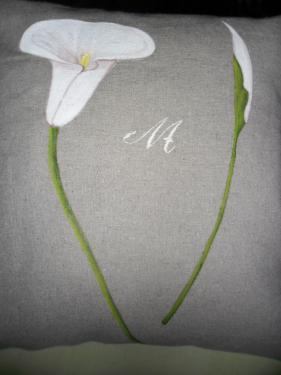 Coussin en métis lin-coton personnalisé