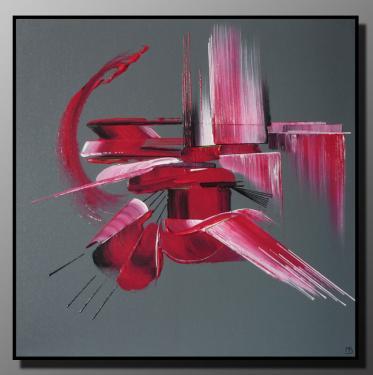PLAISIR Taille : 50X50 Peinture abstraite   Acrylique au couteau/pinceau Toile sur ch�ssis bois Cotation Drouot Site officiel : http://www.mapeinturesurtoile.com Prix : me contacter