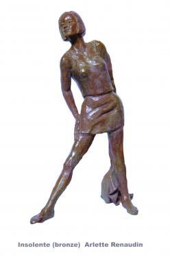 Insolente  Bronze patine brune 47x28x15 cm