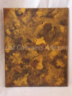 Quanquelesque  (Juillet 2012) (40x36)  -terre d'ombre naturelle (oeil de tigre)