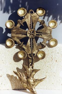 CREATION PERSO ..h45cm faux metal sur résine.