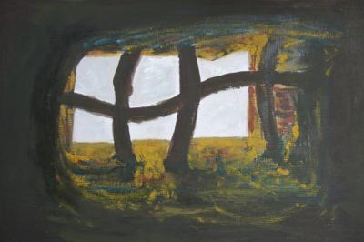 Le cellier � vin, Egypte, acrylique sur toile