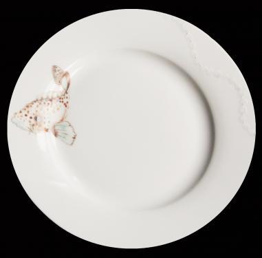 Assiette à dessert motifs de la mer. Référence: Diamètre: Sur commande délais de livraison nous consulter.