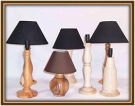 Pied de lampe bois