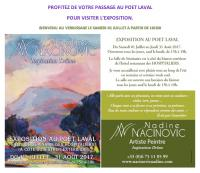 Exposition de peintures au Poet Laval  DROME , Nadine Nacinovic Artiste Peintre