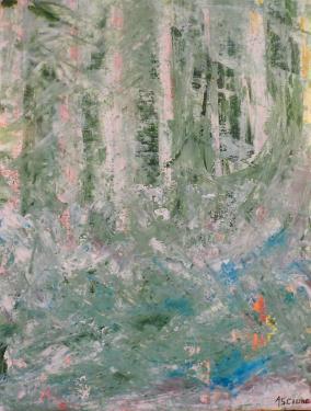 vert la for�t (40x30 cm)