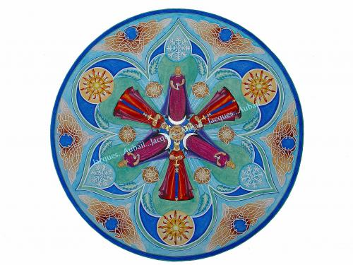 Même symbolisme que dans le motif oriental précédent.