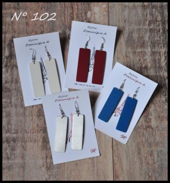 Bijoux aluminium N°102 Plaque épaisseur 1.5 mm Longueur 5 cm, largeur 1.5 cm