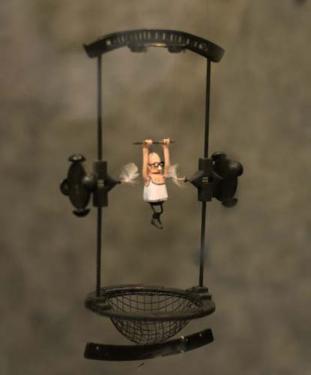 chatouilleur de trap�ziste machine � remonter