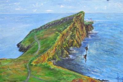 L'île de Skye, Ecosse, acrylique sur tole