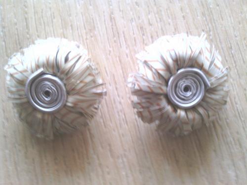 Boucles d'oreilles clip cr�me