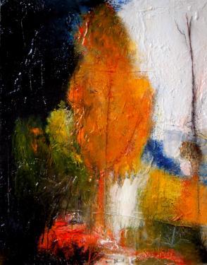 paysage n°54-techniques mixtes sur toile 81 x 65 Non encadreée