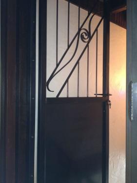 Porte blindé design fer forgé