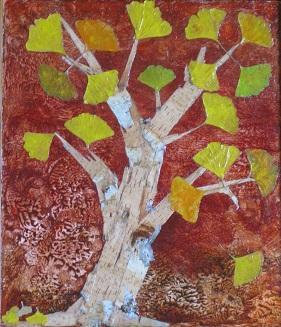 ARBRE aux ECUS. Ecorce de bouleau - Ginkgo Biloba - 40/45 cm  Si tu as des ennuis et que tu dois partir, grave ta destination sur un arbre, ainsi qu'une