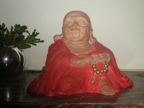 Bouddha rieur Céramique patinée