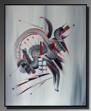DEMONS DE MINUIT Taille : 46X55 Peinture abstraite   Acrylique au couteau/pinceau Toile sur ch�ssis bois Cotation Drouot Site officiel : http://www.mapeinturesurtoile.com Prix : me contacter