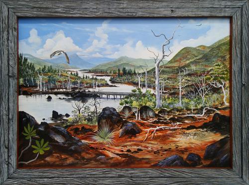 N°4 Hauts Creek Perno - SUD Lac Acrylique sur toile 70 X 50