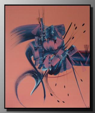 VIBRATION Taille : 46X55 Peinture abstraite   Acrylique au couteau/pinceau Toile sur ch�ssis bois Cotation Drouot Site officiel : http://www.mapeinturesurtoile.com Prix : me contacter