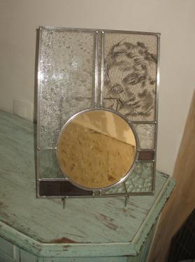 miroir peinture grisaille