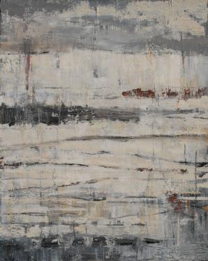 CHEMINEMENT huile sur toile 81 x 65 cm