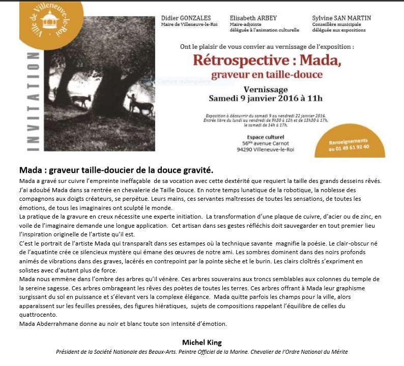 Actualit� de Abderrahmane MADA GRAVEUR EN TAILLE-DOUCE MADA 40 ANS DE GRAVURE