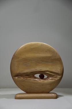 sphère en citronnier h. 30cm.x 30cm.