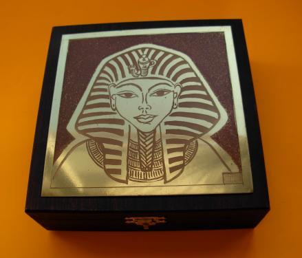 Bo�te � bijoux Touthankamon 14x14x4,5h