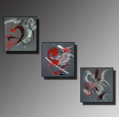 TRYPTIQUE Taille : 30X30 (x3) Peinture Peinture abstraite   Acrylique au couteau/pinceau Toile sur ch�ssis bois Cotation Drouot Site officiel : http://www.mapeinturesurtoile.com Prix : me contacter