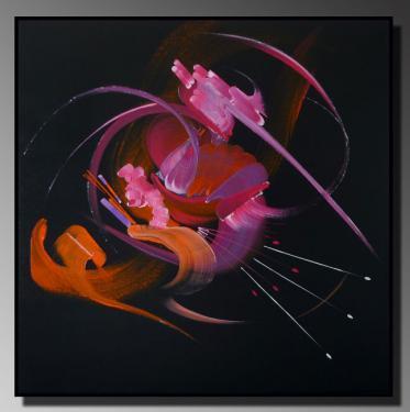 SONDE D'UNE NUIT Taille : 80X80 Peinture abstraite   Acrylique au couteau/pinceau Toile sur ch�ssis bois Cotation Drouot Site officiel : http://www.mapeinturesurtoile.com Prix : me contacter