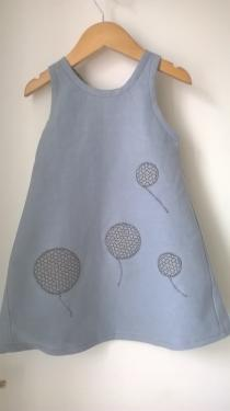 robe chanvre teintée gris anthracite 3 ans fermeture 1 pression dos