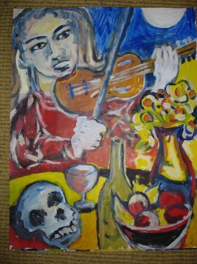 le violoniste vanitée