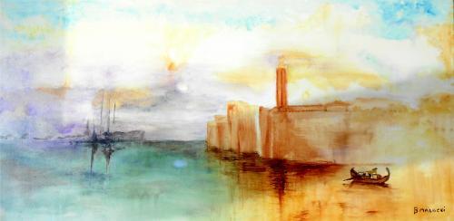 Huile sur toile   80*40 Un thème et un tableau inspiré par Turner