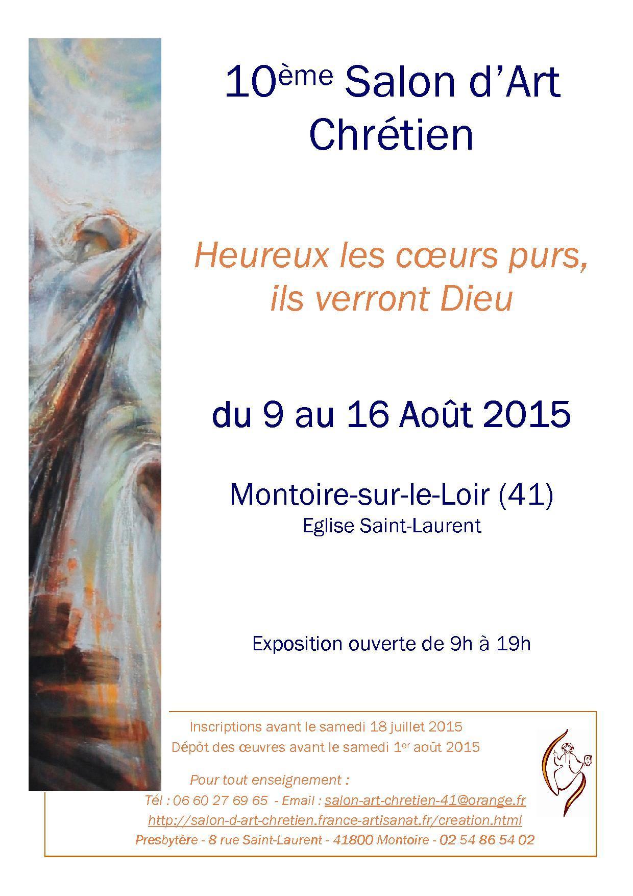 Actualité de  PRESBYTERE DE MONTOIRE SUR LOIR 10 ème - SALON D'ART CHRETIEN 10° SLON D'ART CHRETIEN A MONTOIRE S/ LOIR