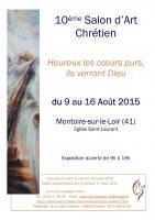 10° SLON D'ART CHRETIEN A MONTOIRE S/ LOIR ,  PRESBYTERE DE MONTOIRE SUR LOIR 10 ème - SALON D'ART CHRETIEN