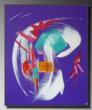 PARADIS BLANC  Taille : 46X55 Peinture abstraite   Acrylique au couteau/pinceau Toile sur ch�ssis bois Cotation Drouot Site officiel : http://www.mapeinturesurtoile.com Prix : me contacter